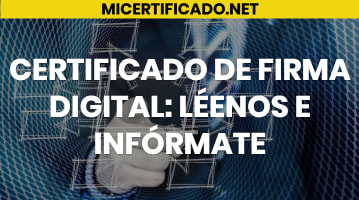 Certificado de Firma Digital