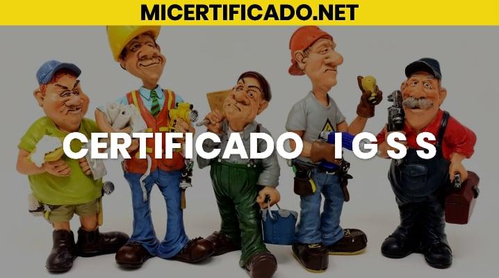 Certificado IGSS