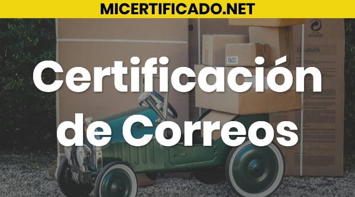 Certificación de Correos