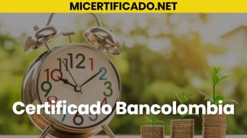 Certificado Bancolombia
