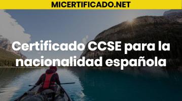 Certificado CCSE para la nacionalidad española