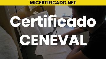 Certificado CENEVAL