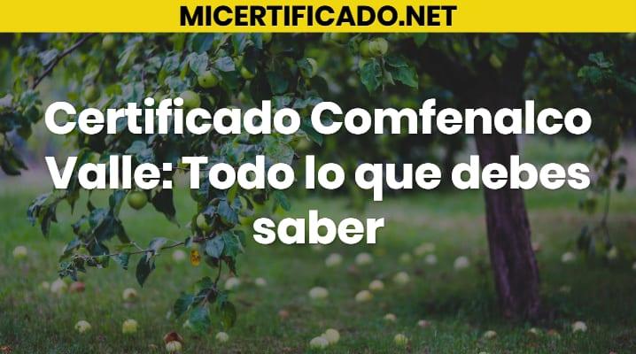 Certificado Comfenalco Valle
