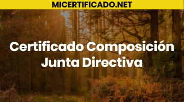 Certificado Composición Junta Directiva