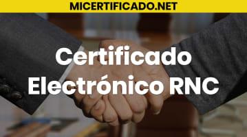 Certificado Electrónico RNC