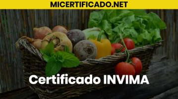 Certificado INVIMA