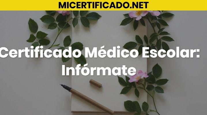 Certificado Médico Escolar