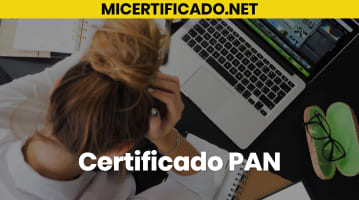 Certificado PAN
