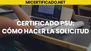 Certificado PSU