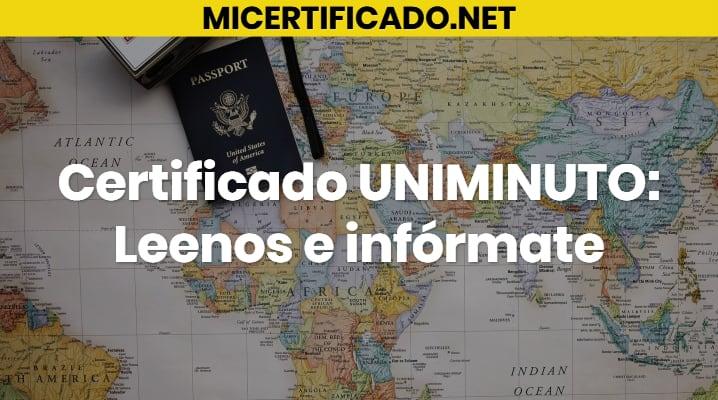 Certificado UNIMINUTO