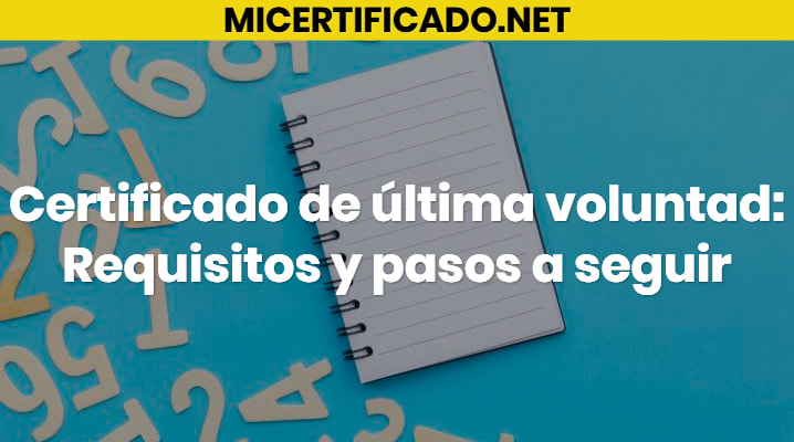 Certificado de última voluntad