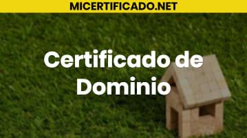 Certificado de Dominio
