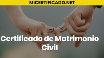 Certificado de Matrimonio Civil