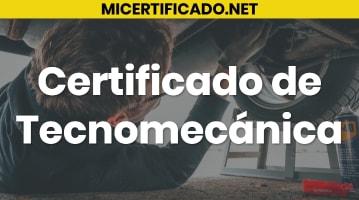 Certificado de Tecnomecánica