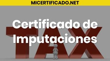 certificado de imputaciones
