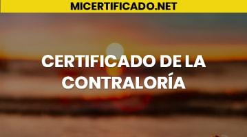 Certificado de la Contraloría