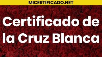 Certificado de la Cruz Blanca