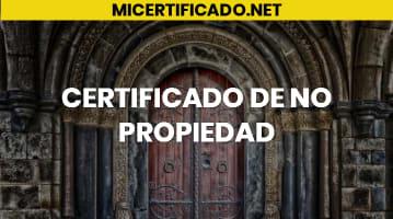 Certificado de no propiedad