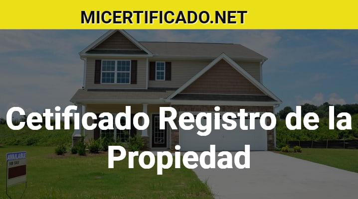 Certificado Registro de la Propiedad