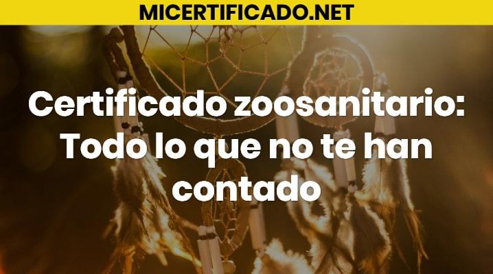 Certificado zoosanitario