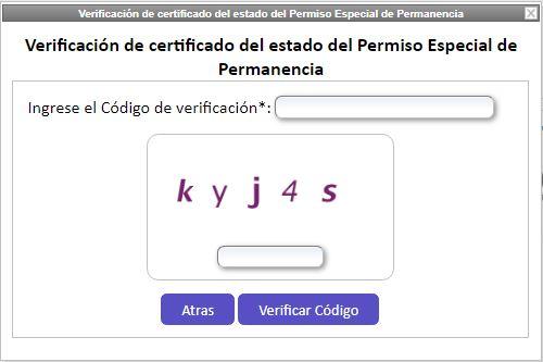 Consultar validez del Certificado PEP