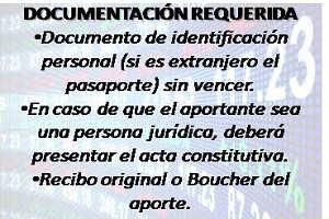 DOCUMENTACIÓN REQUERIDA