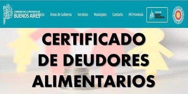 IMAGEN DE Certificado de deudores alimentarios