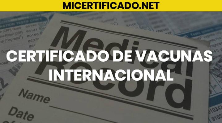 Certificado de Vacunas Internacional