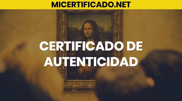 Certificado de autenticidad