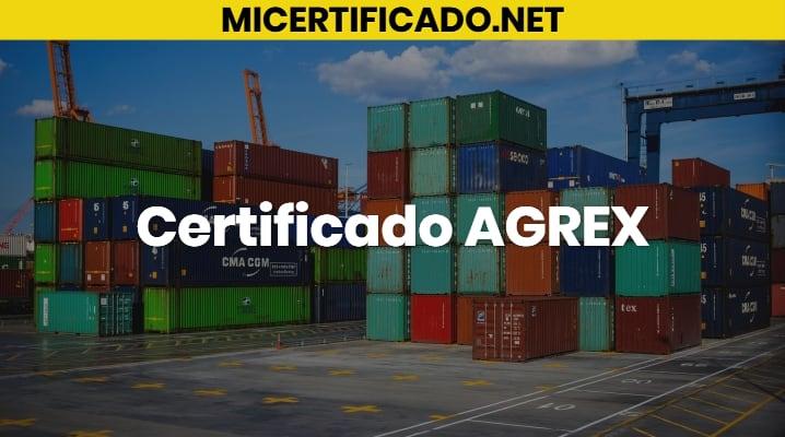 Certificado AGREX