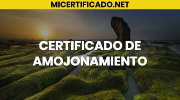 Certificado de Amojonamiento