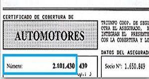 certificado de cobertura de un automotor 1