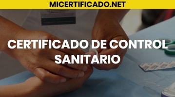 Certificado de Control Sanitario