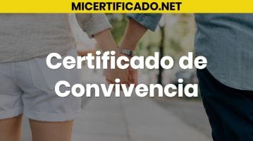 Certificado de convivencia