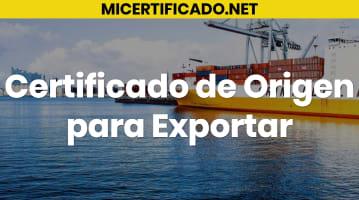 Certificado de origen para exportar