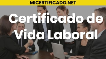 Certificado Vida Laboral