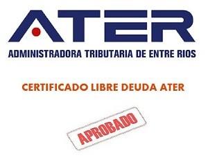 certificado libre deuda ater