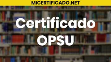 Certificado OPSU