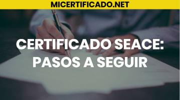 certificado seace