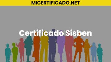 Certificado Sisben