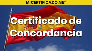 Certificado de Concordancia