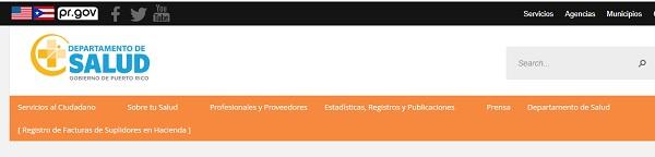 web departamento de salud puerto rico