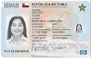 documento de identidad chile