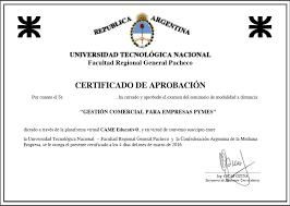 Certificado UTN