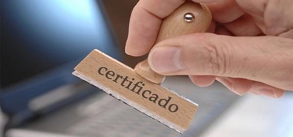 sellando como certificado
