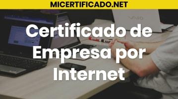 Certificado de Empresa por Internet