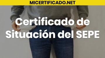 Certificado de Situación del SEPE