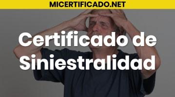 Certificado de Siniestralidad