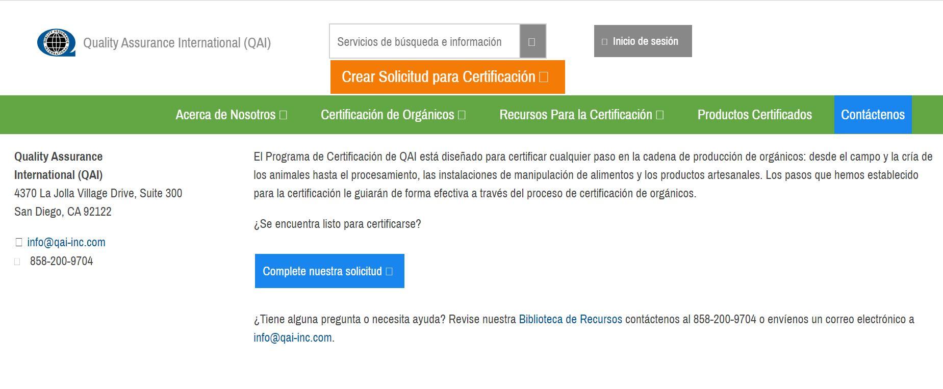 solicitar certificado USDA