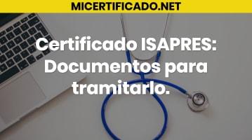 Certificado ISAPRES